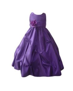 Hey, I found this really awesome Etsy listing at https://www.etsy.com/listing/153702381/flower-girl-dress-purple-eggplant-pick