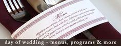 buffet menu card