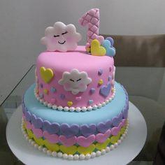 Baby Birthday Cakes, Sweet 16 Birthday, First Birthday Cakes, Fondant Cakes, Cupcake Cakes, Cupcakes, Buttercream Cake Designs, Torta Baby Shower, 1st Birthday Decorations