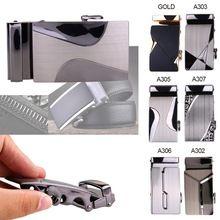 Mens Alloy Rachet Belt Buckle Automatic Buckle For Mens Leather Belt Waistband~
