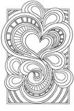 Valentine doodle from ClickNColour - Colouring-in (Coloring) Artwork Downloads - Gallery 2