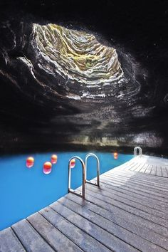 Crater Springs in Utah. Underground hot spring pool. I need to go here
