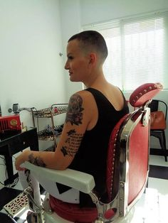 Short Styles, Long Hair Styles, Shaved Nape, Shaved Heads, Forced Haircut, High And Tight, Hair And Beauty Salon, Hair Tattoos, Hair Dye Colors