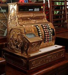 National Cash Register Model 1054X-6 professionally polished in original restored condition ser. # 1783530
