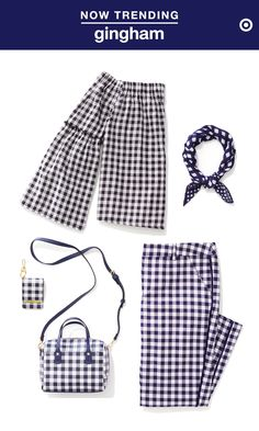 Whether it's black or blue, gingham-printed anything is so quintessentially summer. An off-the-shoulder top or cropped pants are the perfect outfit statement piece, while printed accessories like bandanas or purses are a cute way to add just a pop of pattern to your ensemble.
