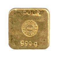 50 Gramm Rothschild Goldbarren - Rückseite