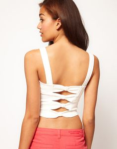 River Island Bow Back Bustier $18.97 thestylecure.com
