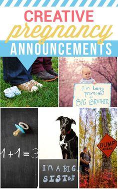 Cute and creative pregnancy announcement ideas!