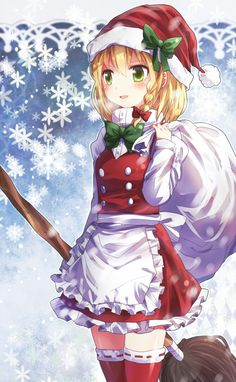 Christmas Anime girl