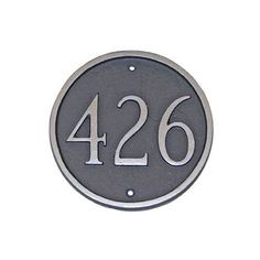 Montague Metal Products Large Circle Address Plaque Finish: Swedish Iron / Silver, Mounting: Wall