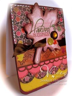 Harvest Blessings card by Sankari Wegman using Verve Stamps