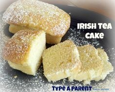 "Irish Tea Cake Recipe. Made these for a little Downton Abbey time with a sweet friend! They were great! You could make this as a single, 9"" cake, as small loaves, or as muffins, I think!"