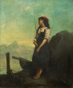 The Athenaeum - Italian Fisher Girl with a Rod (Stanhope Alexander Forbes - )