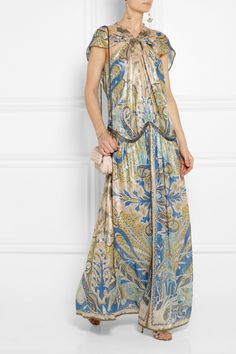 Etro | Embellished paisley-print cashmere and silk-blend gown  | NET-A-PORTER.COM