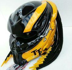 Picture 2 of 3 Open Face Motorcycle Helmets, Riding Helmets, Mv Agusta Dragster, Virago Cafe Racer, Glow Shoes, Predator Helmet, Helmet Head, Airsoft Mask, Custom Helmets