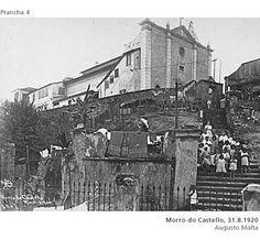 Vista da Igreja e de parte do Colégio dos Jesuítas, Morro do Castelo. Centro, Rio de Janeiro, 1920.