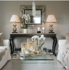 Youngsters Area Home Furnishings 24 Stunning Ideas Modern Living Room Decor Glam Living Room, Living Room Mirrors, Home And Living, Living Room Decor, Modern Living, Living Spaces, Home Interior Design, Interior Decorating, Entryway Decor