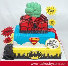 Super Heros Birthday Cake