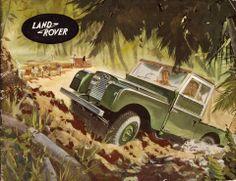 Vintage Land Rover Poster
