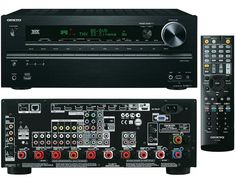 Onkyo TX-NR717 7.2 ch Receiver. I made sure to show the back, which any home theater buff will tell you is much more interesting than than the front. Dual 3D-capable HDMI output with 4K up-conversion. Also about 4K other awesome features. (Phono input, 3 zones, network streaming, iPod integration, THX Select2 Plus, DTS-HD, Burr-Brown DAC, Picture-in-picture, banana plug speaker terminals, kitchen sink...)