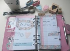 Meine Wochendekoration #Filofax #Filofaxing #plannergirl #wochendeko #washitape