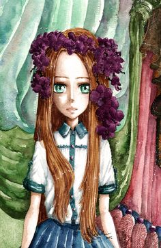 """Orchidea"" by Kashoka watercolour painting"
