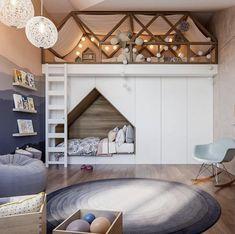 45 Trendy Bedroom Loft Ideas Kids Little Girls Cool Bedrooms For Boys, Cool Kids Rooms, Boys Bedroom Decor, Childrens Room Decor, Bedroom Loft, Baby Bedroom, Awesome Bedrooms, Trendy Bedroom, Decor Room
