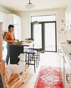 Kim and Catfish in the kitchen making dinner | all white kitchen | via Yellow Brick Home Home Design, Wood Pellet Grills, Living In San Francisco, Wood Pellets, Easy Weeknight Dinners, Seasoning Mixes, Breakfast For Dinner, Creative Outlet, Home Interior