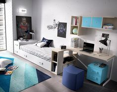 Rimobel Contemporary Teenage Bedroom Composition