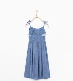Long frilled dress-View all-Dresses-Girl (3-14 years)-KIDS | ZARA United States