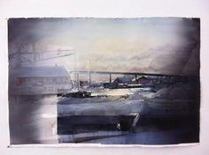 Lars Lerin Lars Lerin )Lars Lerin was born and raised in Munkfors, Värmland. He studied at the school of Gerlesborg Colorful Art, Landscape Paintings, Watercolor, Drawing Illustrations, Painting Inspiration, Painting, Abstract Artwork, Watercolor Landscape Paintings, Art