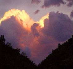 Heart, heart background, pretty, clouds