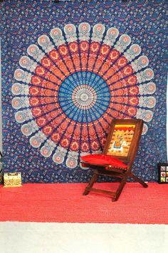 Dorm Mandala Tapestry, Bedcover, wall hanging, Indian Tapestry, Throw Bedspread, Picnic Blanket, Ethnic Decor Mandala art, Wall Decor