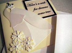 Wedding card    handmade greeting shower by SweetandSassyCards