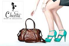 Checita.com: Cognac Brown Leather Purse