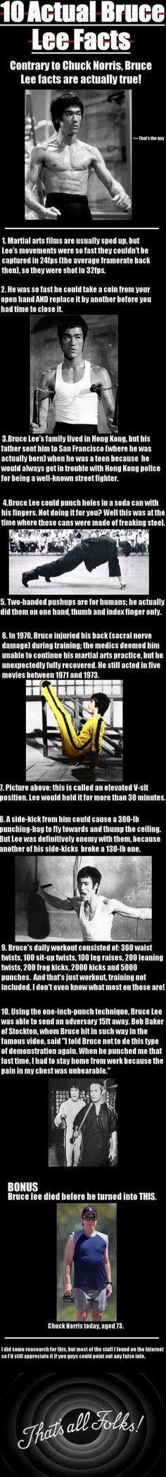 Ten Actual Bruce Lee Facts