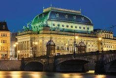 Prague National Theatre Prague Czech Republic, National Theatre, City Architecture, Warsaw, Budapest, Opera House, Taj Mahal, Places To Go, Louvre