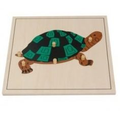 Puzzle de la tortue - Tangram Montessori