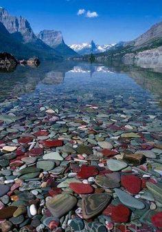 St. Mary Lake in Glacier National Park, Montana