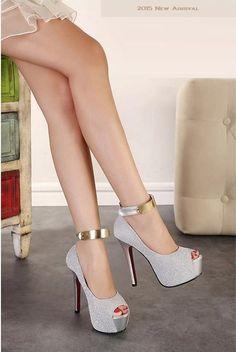 """Elegant Series"" Ankle Strap High Heels platform pumps Sandals (New Arrival 201 #platformpumpsstilettos #platformhighheelsanklestraps"