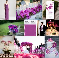 PANTONE Color of the Year 2014 - Radiant Orchid wedding inspiration Orchid Wedding Theme, Purple Wedding, Wedding Themes, Wedding Colors, Wedding Flowers, Wedding Decorations, Wedding Stuff, Wedding Cakes, Dream Wedding