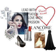 Show Your Mood with Rouge in Love by Lancôme, created by majibitca.polyvore.com      this is my lancome entry on polyvore
