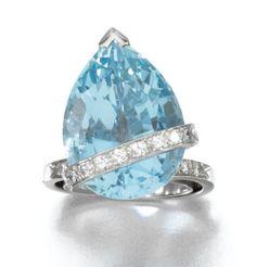 Rosamaria G Frangini Diamond Tiara, Diamond Pendant, Diamond Cuts, Diamond Rings, Modern Jewelry, Gold Jewelry, Vintage Jewelry, Fine Jewelry, Aquamarine Necklace