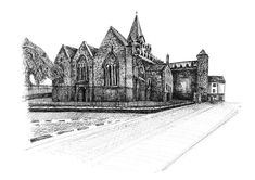 St. Nicholas Church, Galway St Nicholas Church, Saint Nicholas, Ink Drawings, Limited Edition Prints, Fine Art Prints, Antiques, Artist, Antiquities, Art Prints