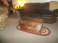 my old military crate is now my coffee table..love it...