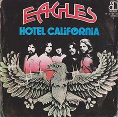 "EAGLES Hotel California 1976 Portugal Issue Rare 7"" 45 Vinyl Rock 70s NS0718"