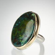 Jamie Joseph asymmetrical turquoise Ring.--Gorgeous color!