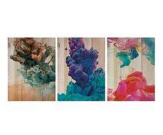 Impresión en madera Explosión de Color - 135x60 cm