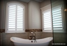 Give your French Doors a Tailored Fit with Custom Plantation Shutters Love your Family Room with Plantation Shutters Shutte...