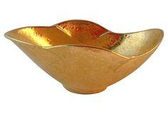 Gold Gilt Roseville Bowl on OneKingsLane.com